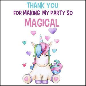 Thank you for coming to my party stickers
